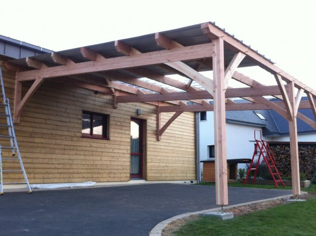 carport finist re sud breizh bois construction r alisations carport. Black Bedroom Furniture Sets. Home Design Ideas
